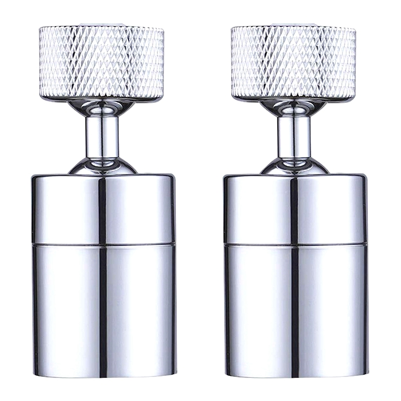 2 Pack Faucet Aerator 80-Degree Rotate Dual-Function Kitchen Sink Faucet Aerators 360-Degree Swivel Water Saving Tap Aerator Dif
