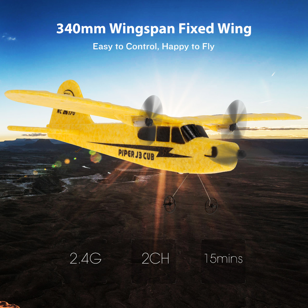 <font><b>FX</b></font>-<font><b>803</b></font> 2.4G 2CH 340mm Wingspan Remote Control Airplanes Glider Fixed Wing RC Airplane Aircraft RTF RC Toy Gifts image