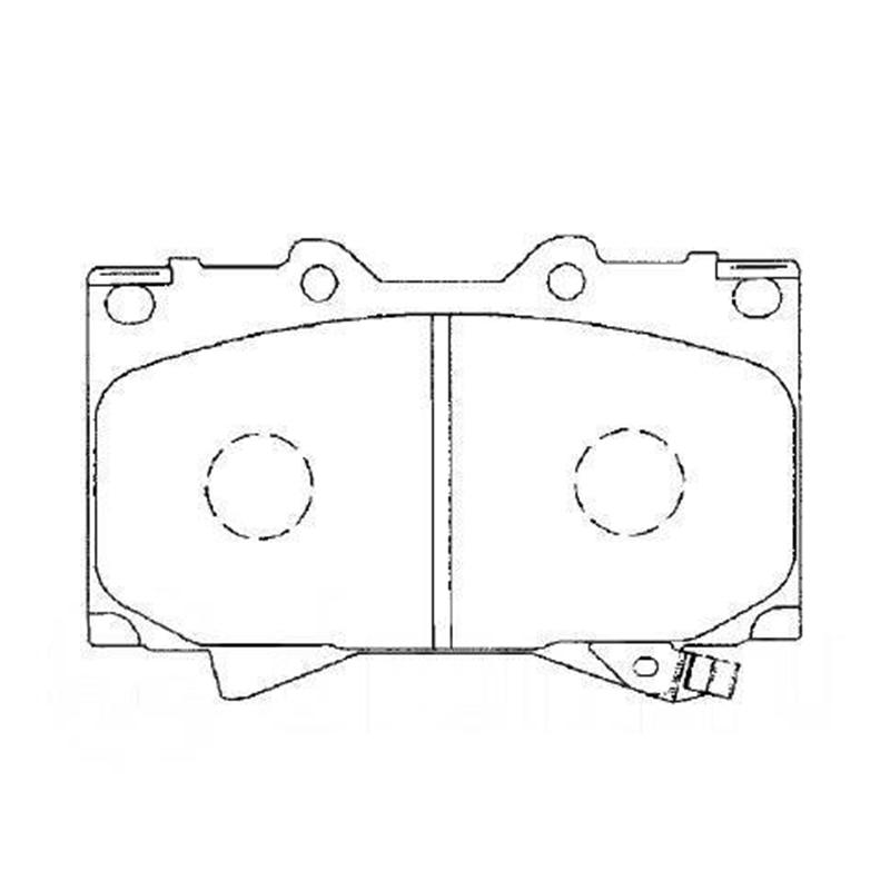 AKEBONO pastiglie freno a disco anteriore per TOYOTA LAND CRUISER 100, LEXUS LX470 AN-498WK
