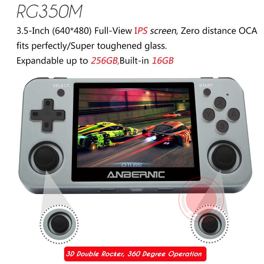 ANBERNIC RG350M Giochi Retrò In Lega di Alluminio Schermo IPS PS1 regalo console di Video Giochi Emulatori Palmare Giocatore del Gioco RG351 HDMI TV