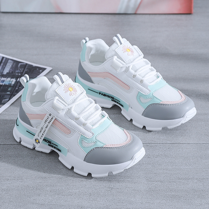 Spring Korean Platform Sneakers Women Shoes Thick Bottom Chunky Sneakers Breathable Mixed Colors Slip On Casual Shoes Woman 2021 Women's Vulcanize Shoes  - AliExpress