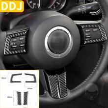 Für Mazda MX 5 Miata 2009 2015 Carbon Fiber Lenkrad Panel Trim Aufkleber Streifen Set Tuning MX5 NC Roadster auto Zubehör