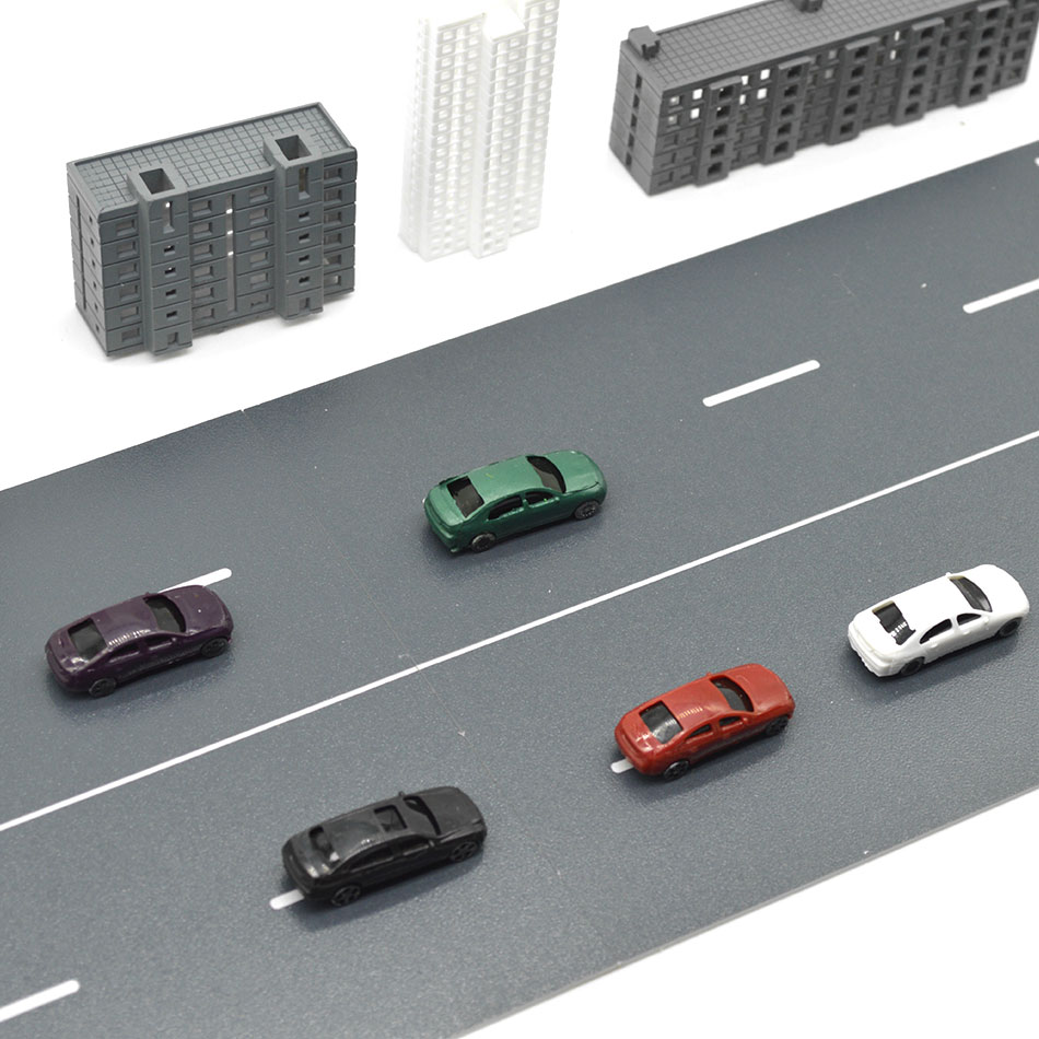 50PCS Miniature Scale Model Car Toys 1:100 ABS Plastic Tiny Car For Diorama Model Architecture Road Scenery Layout Kits