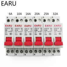 DZ30-32 DPN 1P + N Mini disyuntor MCB 6A 10A 16A 20A 25A 32A Din carril montaje recorte miniatura hogar interruptor de aire DIY OEM