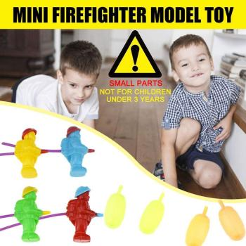 Playing Water Gun Novelty Mini Firefighter Water Gun Toy Pool For Children Toys Outdoor Water Toys Sports Model Bath U7P0 image