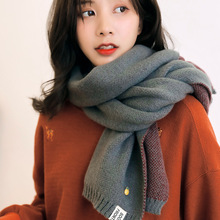 2019 Winter Scarf for Women New Knitted Cashmere Scarves Cut