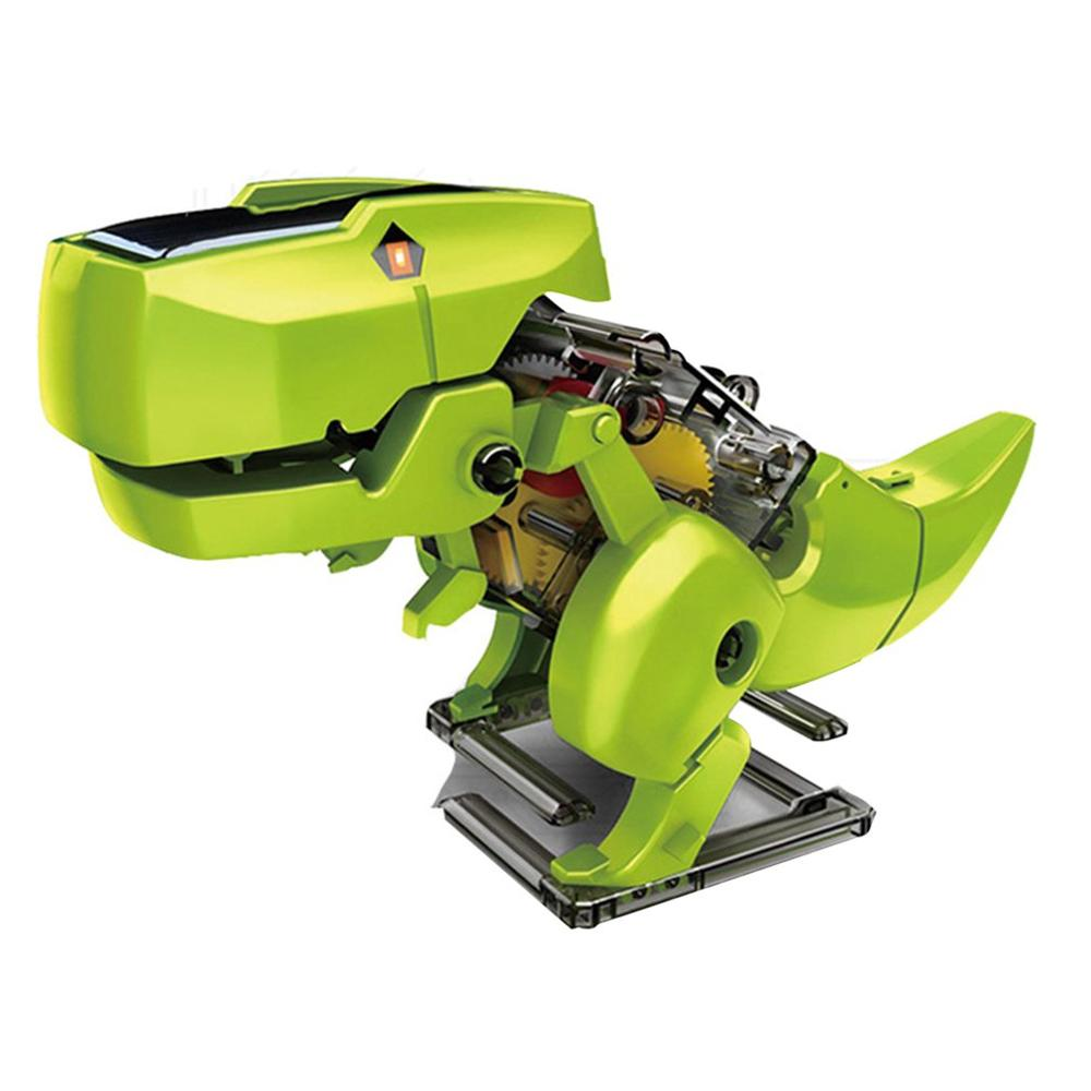Solar Toy Diy Assembled Model Dinosaur Robot Technology Dinosaur Robot Model Children Creative Gifts