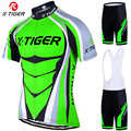 X-Tiger 2019 برو الدراجات جيرسي مجموعة النيون الأخضر ملابس سباق الدراجات الجبلية الصيف دراجة جبلية الملابس الدراجات مجموعة ملابس ركوب الدراجات