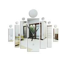 2019 New Clock Watch 3D DIY Wall Clocks Horloge Acrylic Mirror Stickers Home Decoration Living Room Quartz Needle
