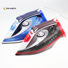 лучшая цена 2500W Steam Iron Handheld Adjustable Multifunction Portable Iron Machine Ceramic Soleplate Electric Steam Iron For Clothes