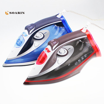 2500W Steam Iron Handheld Adjustable Multifunction Portable Iron Machine Ceramic Soleplate Electric Steam Iron For Clothes