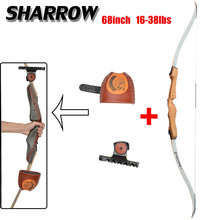 Recurve Bow With Arrows Quiver Bag For Archery 16-38lbs 68inch Wood Profession Novice Outdoor Hunting Shooting Accessories