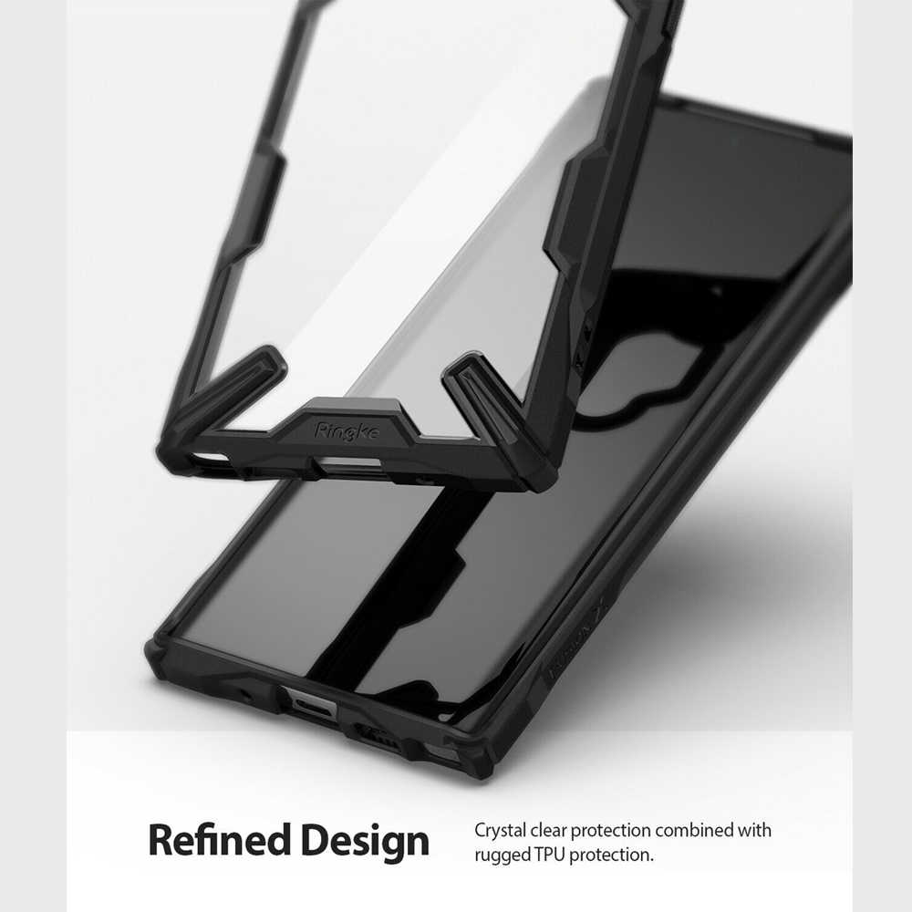 Ringke Fusion X pour Galaxy Note 10 Plus coque d'absorption des chocs PC dur Transparent dos TPU souple pour Galaxy Note 10 + 5G housse