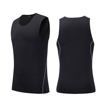 Summer Man Vest Quick-drying Slim Training Tight Gym Tank Top Sleeveless Running Round Neck Fitness Sport Tops New 4