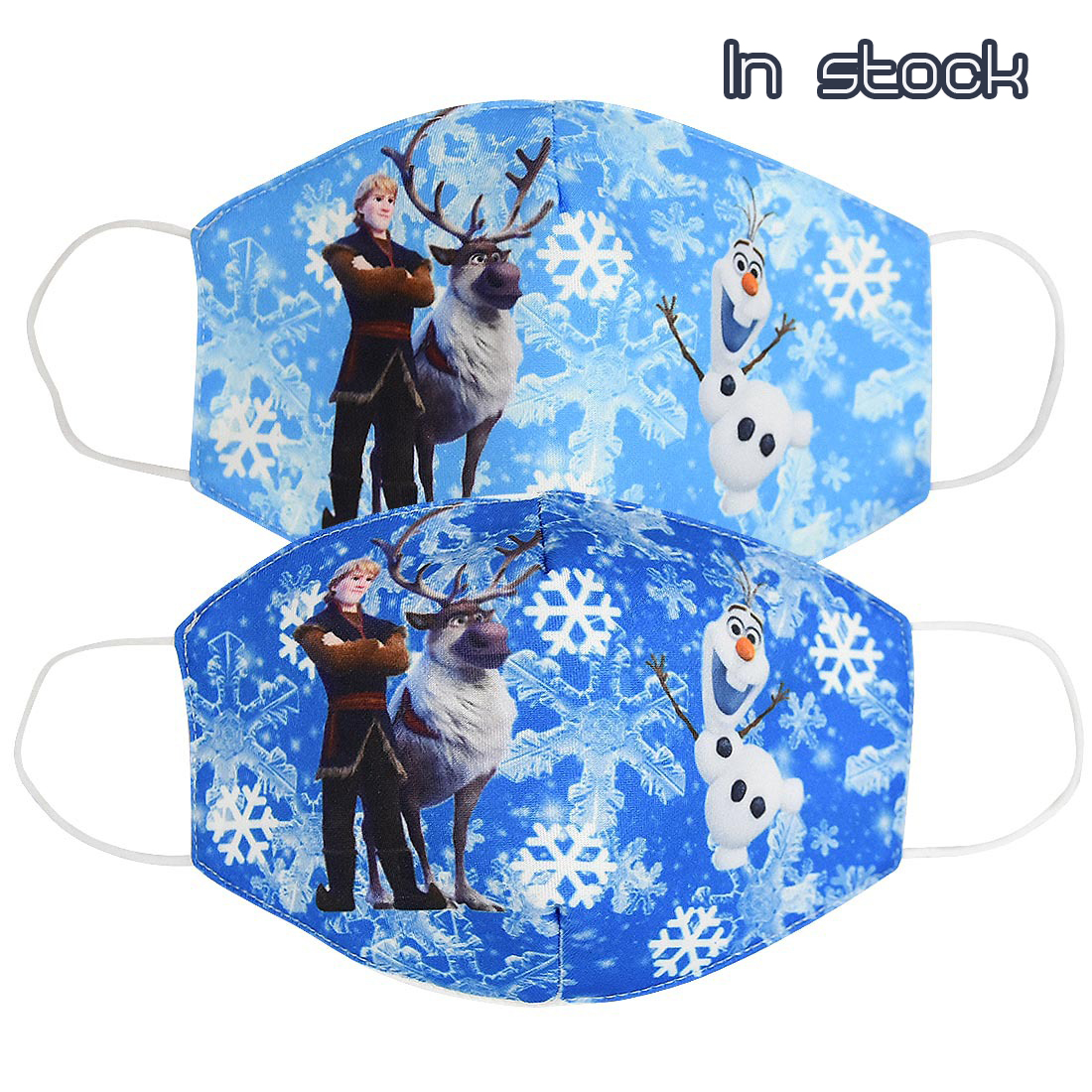 2020 New Kids Snow Queen Protective Mask Cotton Printed Breathable Sun Protection Dustproof Masks For Adult Child