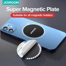 Joyroom manyetik plaka kablosuz şarj için mıknatıs levhalar Disk için mobil telefon tutucu araç tutucu kablosuz araç telefon tutucu levha