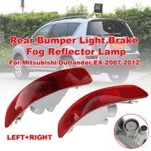 Lights 2X Red Halogen Rear Bumper Light Brake Fog Reflector Lamp for Mitsubishi/Outlander EX 2007-2012 Car bumper brake light 2x red lens 24 led rear bumper reflector tail brake light 04 09 for mazda3 mazda 3 axela mazdaspeed3