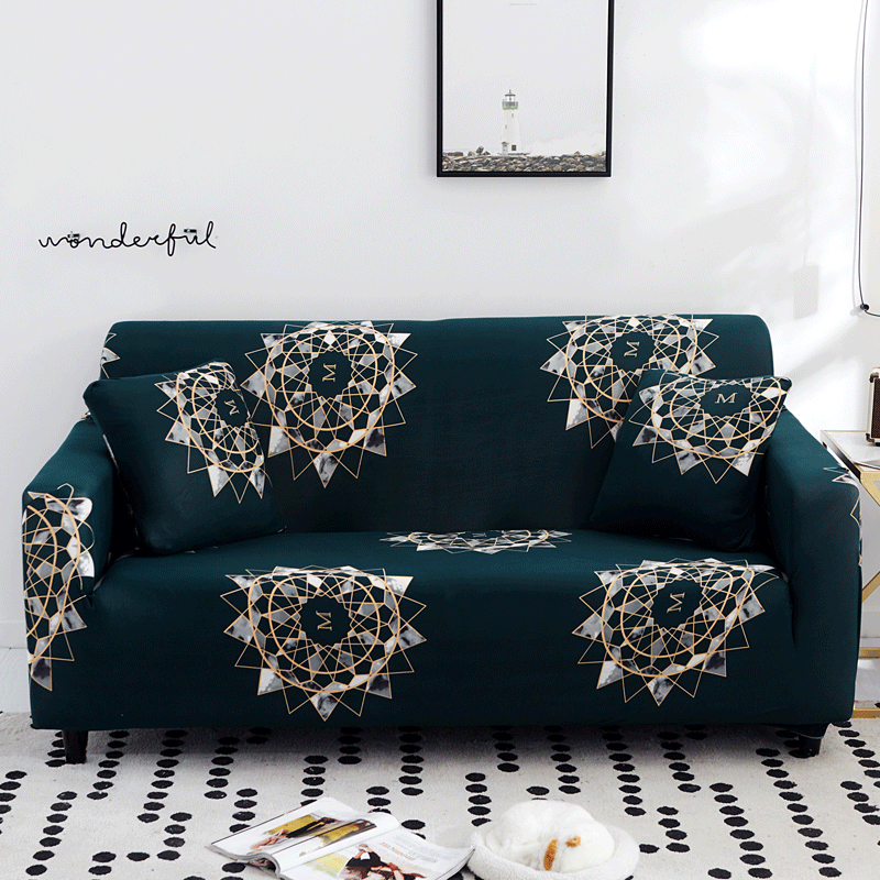 Floral Printed Sofa Covers For Living Room Elastic Stretch Slipcover Sectional Corner Sofa Covers 1/2/3/4-seater
