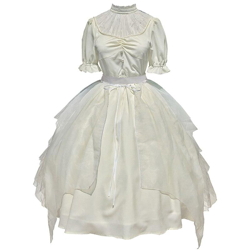 Купить винтажное элегантное платье в стиле лолиты с кружевным воротником