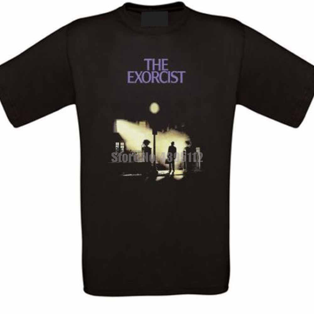 Exorcist Horror Cult Movie Mens T Shirt Japanese Streetwear Tshirts Gym T-Shirt 100% Cotton T-Shirts For Men image
