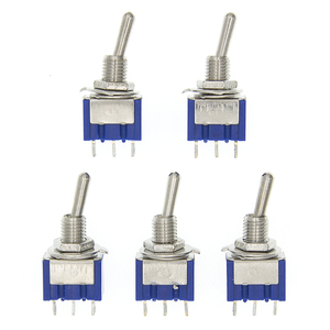 10pc Blue Mini MTS-102 3-Pin SPDT ON-ON 6A 125VAC Miniature Toggle Switches(China)