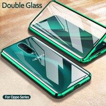 360° Magnetic Flip Case On For Oppo Realme 5 6i 5i double side glass cover for Oppo A5 A9 2020 A11X A5 A3a A7 F9 Coque