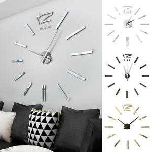 Image 1 - Modern Design Mini DIY Large Wall Clock Sticker Mute Digital 3D Wall Big Clock Living Room Home Office Decor Christmas Gift