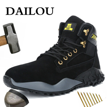 DAILOU Waterproof Winter Men Boots with Fur Warm Snow Women Boots Men Work Casual Shoes Sneakers Indestructible Big Size 48