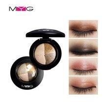MYG Eyes Makeup Baked Eyeshadow Glitter 4 Colors Natural Min
