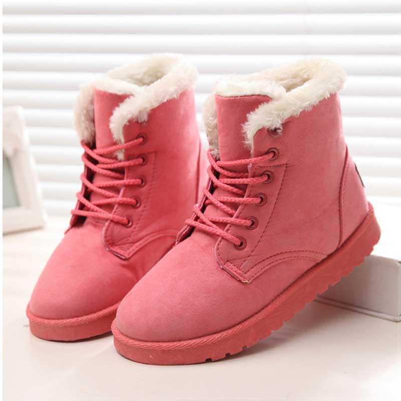 แฟชั่นฤดูหนาวผู้หญิงหิมะรองเท้าบูทส้นแบนฤดูหนาวรองเท้าอุ่นรองเท้าผู้หญิงรองเท้า