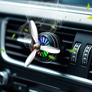 Air Freshener Car Smell LED Mini Conditioning Vent Outlet Perfume Clip Fresh Aromatherapy Fragrance Alloy Auto Cars Accessories image