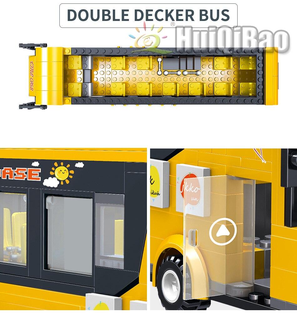 """конструктор huiqibao """"экскурсионный автобус"""""""