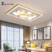 Современный светодиодный потолочный светильник золотые светильники