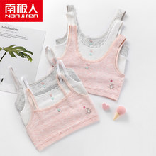 NANJIREN 2pcs Children Hipster Girl Bra 9-18 Years Breast Care Cotton Teens Teenage Underwear No chest pad summer Kids vest Bra()
