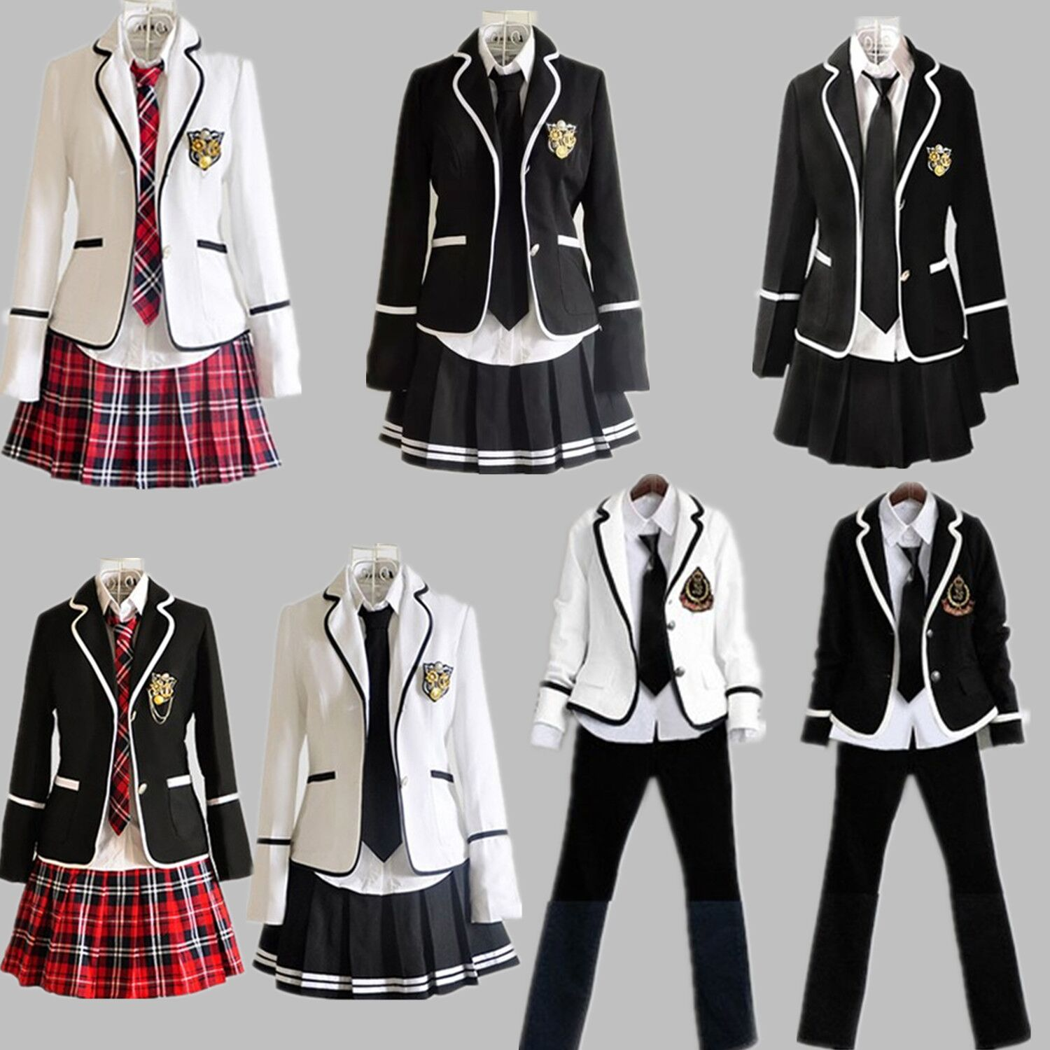 Clothing Suit Uniform Autumn 2020 Children School Girls White Black Rice Is Primary British Wind
