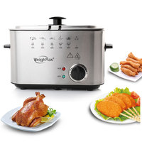 1.5L Electric Fryer Small Fried Smoke Free Deep Fat Fryer Oil Frying Machine Oven French Fries Chicken Grill Fish Pot