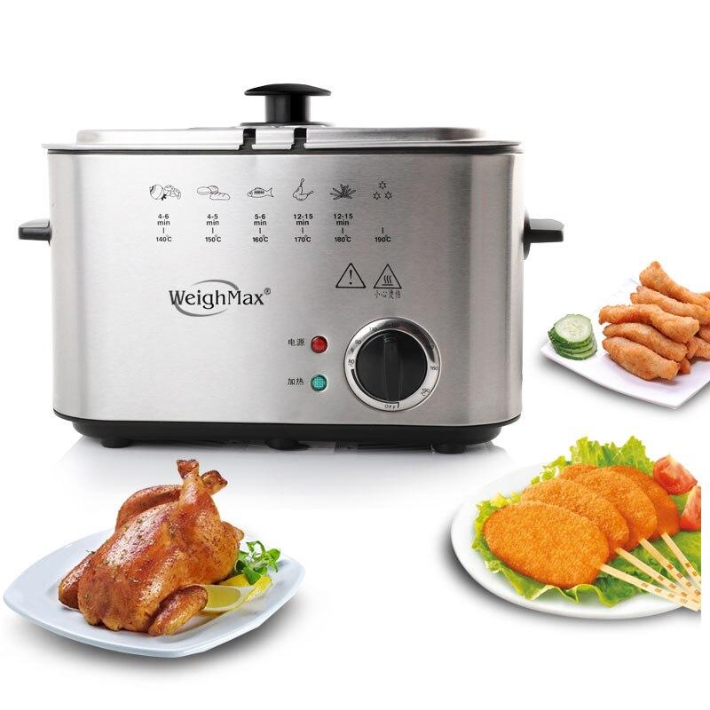 1.5L friteuse électrique petit frit sans fumée friteuse profonde huile friture Machine four frites poulet Grill poisson Pot