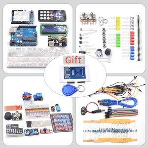 Image 3 - Startowy zestaw do Arduino Uno R3 deska do krojenia chleba/ultradźwiękowy/czujnik ultradźwiękowy/serwo/1602 LCD/kabel mostkujący/UNO R3 z samouczka
