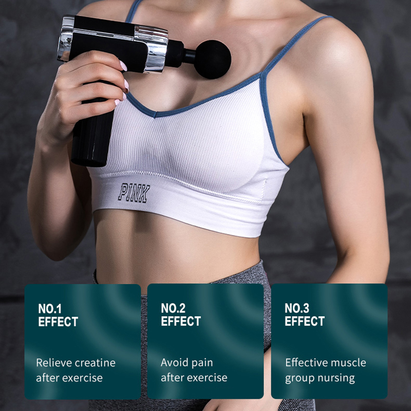 60W 24V Massage Gun Deep Tissue Percussion Muscle Massage for Pain Relief Portable Back Body Relaxation Sport Massager 30Speeds