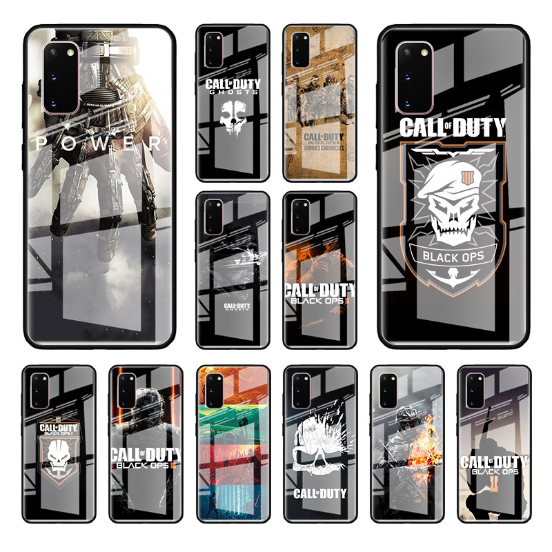 Tempered Glass Case For Samsung Galaxy S20 Ultra S10 5G S10e S8 S9 Plus Note 8 9 10 Lite Phone Cover Call of Duty World War II