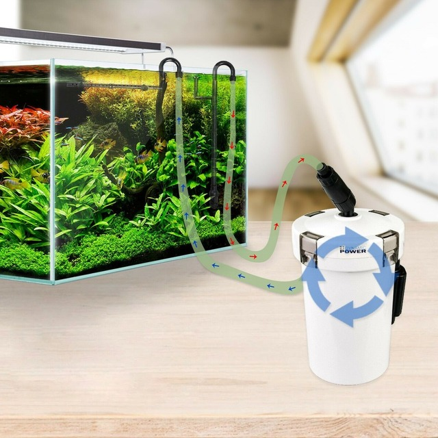 220V 6W Ultra-quiet HW-602B HW-603B Aquarium Filter Pump 4-stage External Canister Filter Bucket for Fish Tank Filtration 1