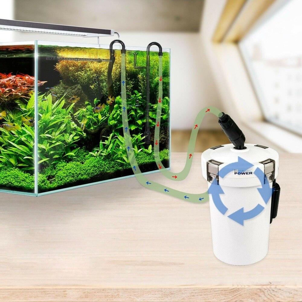 220V 6W Ultra-quiet SUNSUN HW-602B HW-603B Aquarium Filter Pump 4-stage External Canister Filter Bucket for Fish Tank Filtration