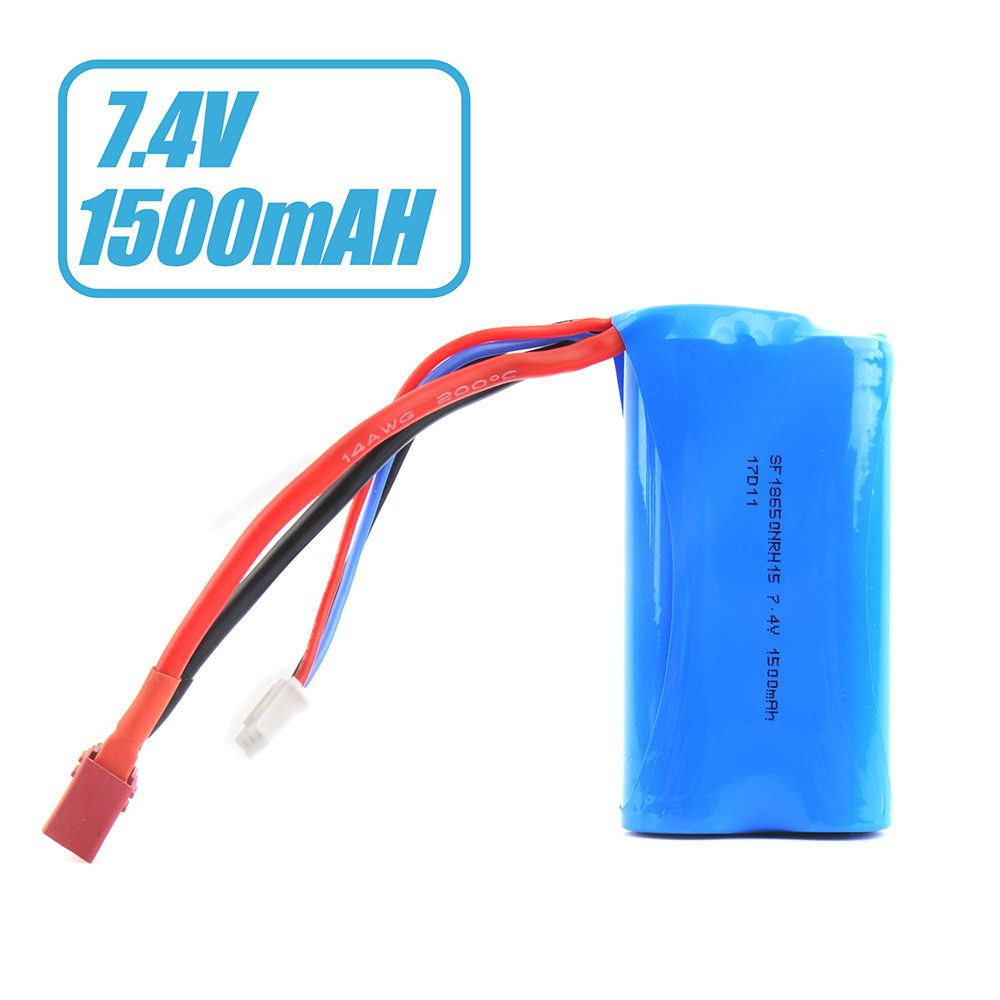 7.4V 1500mAh Li-ion Battery For <font><b>Wltoys</b></font> 12428 12401 12402 <font><b>12404</b></font> 12403 12423 12428-A 12428-B Spare Part image