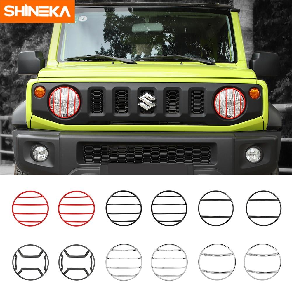 For SUZUKI Jimny 07-15 Front Headlights Headlamp Cover Frame Steel 2PCS Black