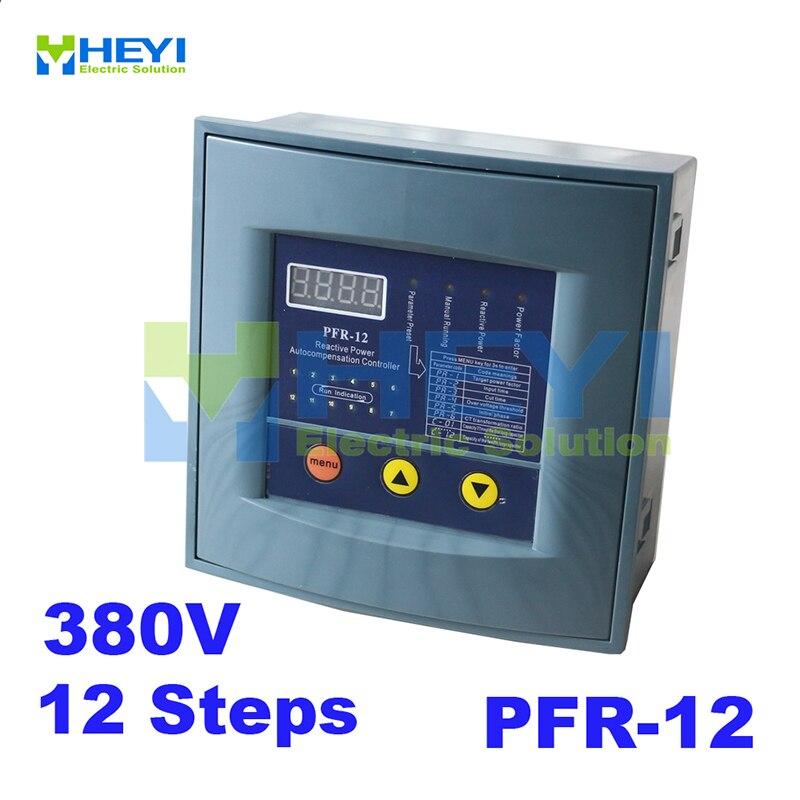 JKW58 PFR-12 Reactive Power Compensator Controller For Power Factor Capacitor 12step 380v Reactive Power Compensation Controller