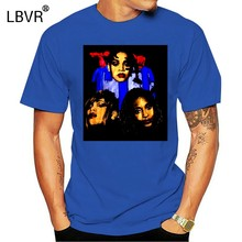 Vintage Rap Tee TLC 1995 Hip Hop T Shirt Left Eye 90s Vtg Reprint S-XXL(China)