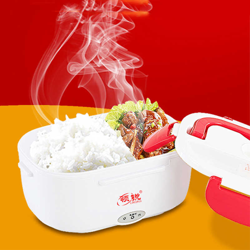 220 فولت 110 فولت الغداء صندوق لحفظ الطعام التدفئة الكهربائية جهاز تسخين الطعام سخان الأرز الحاويات للمنزل سيارة الاتحاد الأوروبي الولايات المتحدة التوصيل دروبشيب