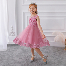 2020 Formal Bridesmaid Gown Girl Party Dress Kids D