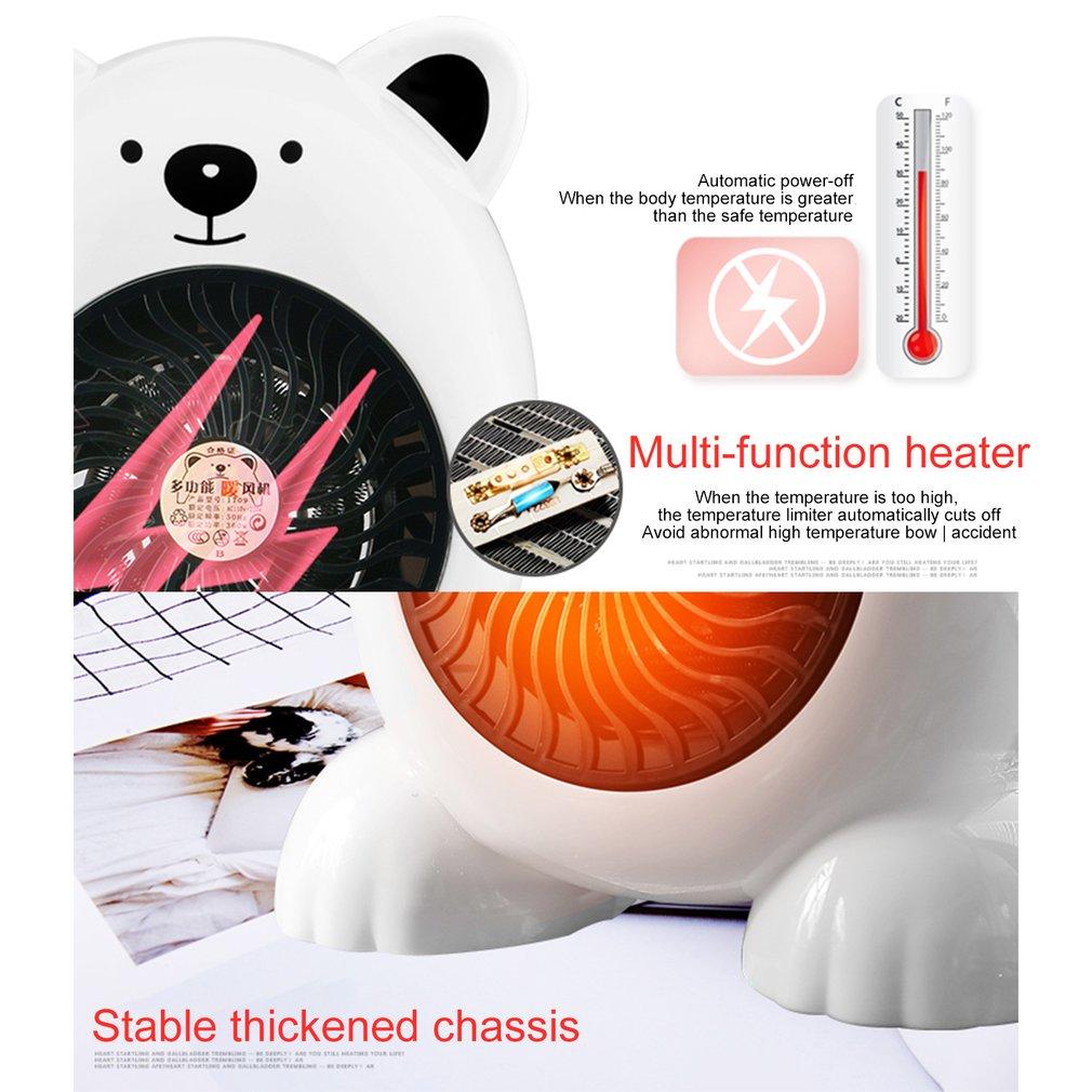 Mini Portable Electric Heater Cute Heating Warm Air Fan Home Office Wall Handy Air Heater Bathroom Radiator Warmer Fan
