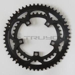 "Image 5 - TRUYOU Road Bicycle Chain Wheel BCD 110 53T 39T Dual Disc Chainwheel Folding Bike Chainring Aluminium Double Speed CNC 3/32"""